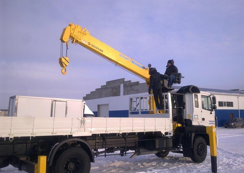 Услуги кран-борта в Москве